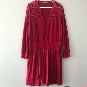 Anthropologie vintage style red dress